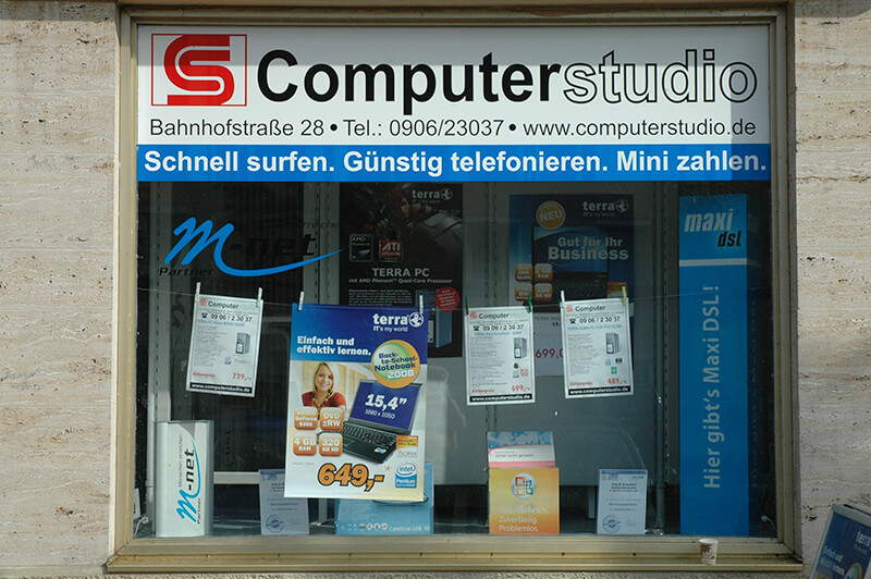 Computerstudio Schaufenster (1)
